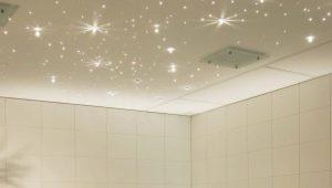 Spotlights in the bathroom
