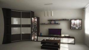 Hörn garderober i vardagsrummet inredning