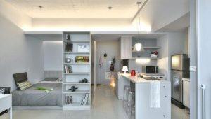 Conception d'un petit appartement d'une pièce: des idées intéressantes