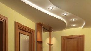 Design do teto Drywall no corredor