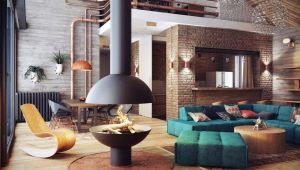 Loft-style apartments: carelessness at stylish asceticism sa interior