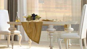 Pieds en métal pour la table: la forme et le design