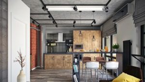 Studio apartment in the loft style: examples of design
