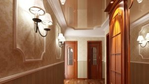 Features stretch ceilings in the hallway