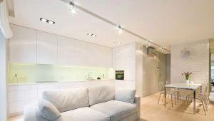 İki odalı bir daire için modern iç mekan tasarım fikirleri