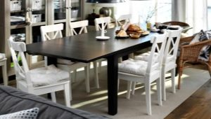 Chairs for the kitchen from ikea in the interior