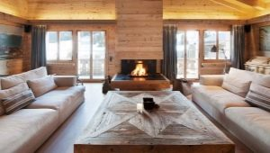 Options for the design of wooden houses made of logs