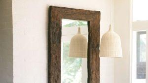 Cermin dengan rak di lorong: ciri-ciri penginapan