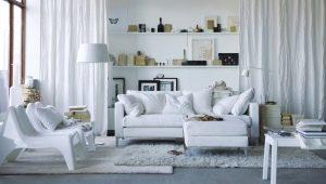 Salon blanc: de belles idées de design d'intérieur