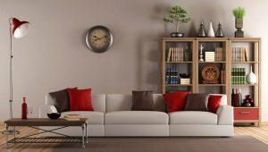 Stor väggklocka för vardagsrummet: ursprungliga idéer