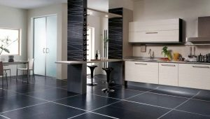 Black floor tiles: the pros and cons