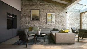 Decorative tiles in the interior