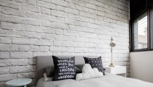 Brick plaster tiles: the advantages and options of design