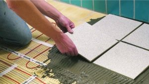 Heating mats for tiles: laying technology