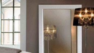 Golv speglar: design exempel