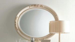 Oval spegel: vackra exempel på användning inom inredning