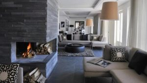 Natural stone tile: beautiful examples in the interior