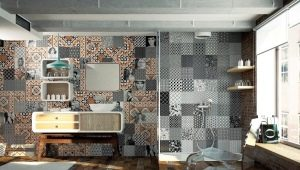 Tile with a pattern: beautiful solutions for your interior
