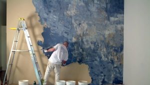 Peinture de plâtre décoratif: méthodes d'application