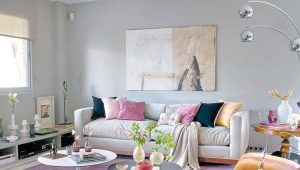 Rules for combining colors in the living room interior
