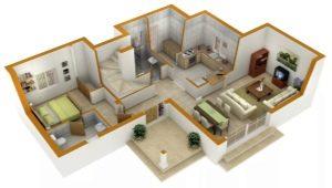 Maak een designproject appartement met hun eigen handen