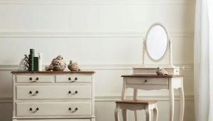 Hörnklädningsbord med spegel: Egenskaper av val