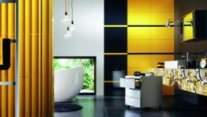 Yellow tiles: beautiful examples in the interior