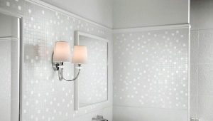 Бяла мозайка във вътрешността на апартамента и къщата