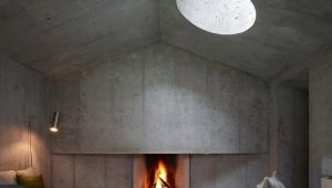 Concrete fireplace: types and features of manufacturing
