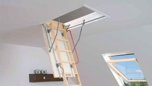 Attic staircase with a warmed hatch: features and types of structures
