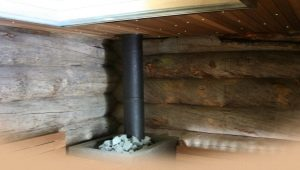 Chimney for a bath: device and installation