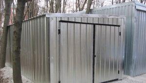 Garage case: caractéristiques de conception, avantages et inconvénients