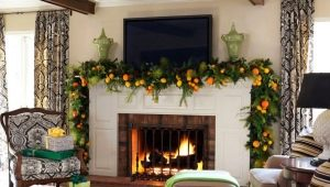 Fireplace decoration ideas for the New Year and other holidays