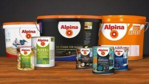 Peintures Alpina: caractéristiques et couleurs