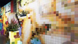 Мозайка на стената: модерни дизайнерски решения