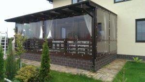 PVC soft windows for arbors and terraces: advantages and disadvantages