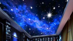 Plafond tendu Ciel étoilé à l'intérieur