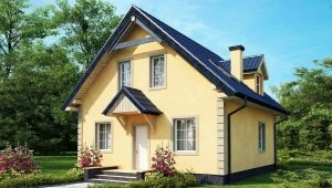 Projects of houses with attic up to 100 m2