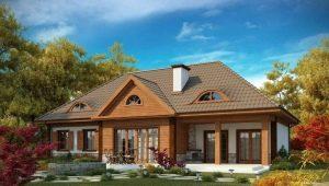 Projekte von schönen Häusern mit einem Dachboden bis zu 150 m2