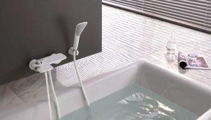 Vita badrums kranar: egenskaper av valet