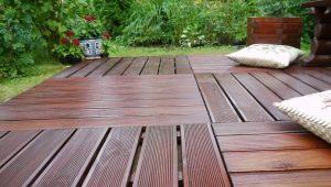 Planches de terrasse: types et caractéristiques du matériau