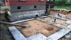 Fundația pentru extinderea casei: caracteristici ale construcției
