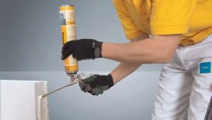 Glue for aerated concrete blocks: types and application