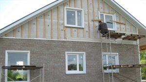 Rivestimenti di rivestimenti per case con isolamento fai da te