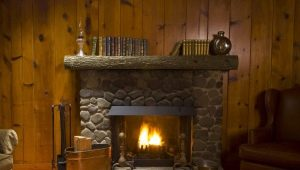 Decorating a fireplace with decorative stone: spectacular examples and tips on decoration