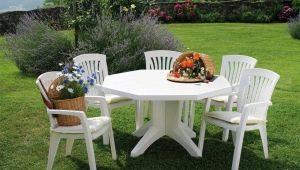 Plastmöbler för trädgården: nyanser av val och placering