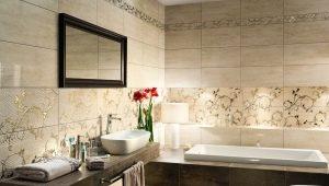 Carrelage de styles différents pour la salle de bain