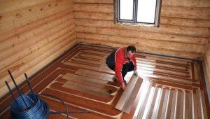 Uppvärmd golv i badet: typer och teknik