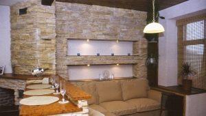 İç dekorasyon için dekoratif taş: şık tasarım fikirleri