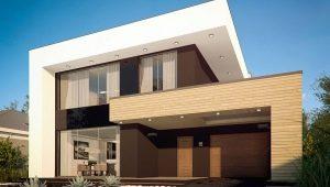 Ein Haus mit Flachdach: Designmerkmale, Vor- und Nachteile